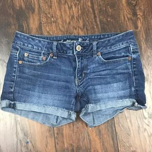 American Eagle Stretch midi shorts